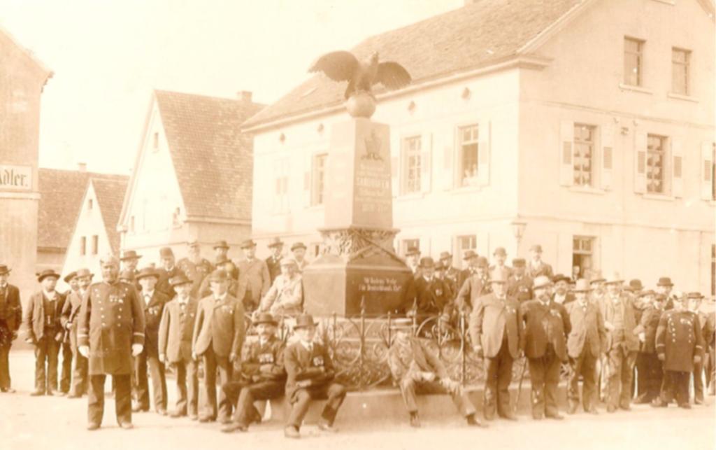 Einweihung des Kriegerdenkmals in Sandhofen